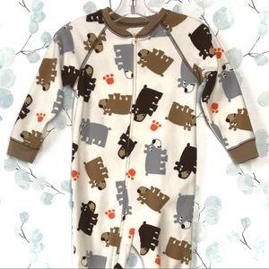 Carter's Bears One Piece Sleeper Footie Pajamas